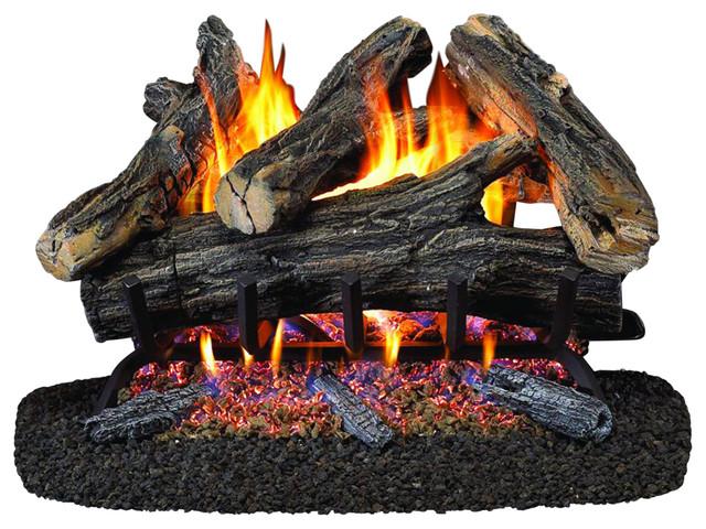 """24"""" Vented Natural Gas Log Set, 55,000 Btu."""