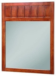 Knoxville Framed Mirror Nutmeg 24 X34 Craftsman