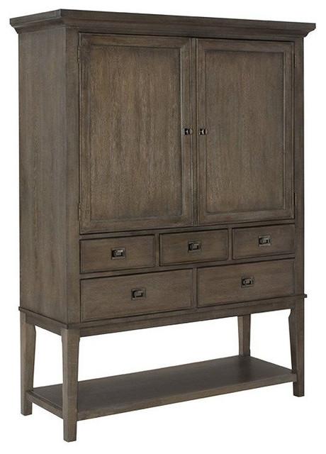 ... American Drew Park Studio Bar Cabinet, Oak - Storage Cabinets | Houzz
