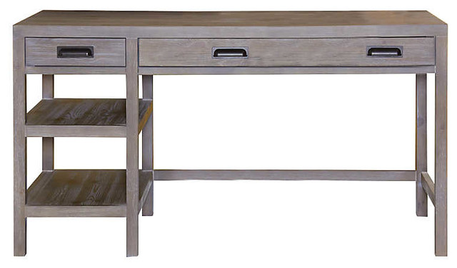 Parsons Desk By Hammary, Sandalwood.