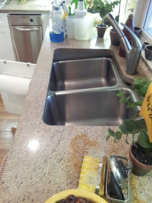 and when he left sink was useable and he did not use any epoxy or glue just trying to help with the problemits your call read more at cinclipscom - Kitchen Sink Problem
