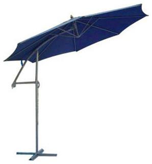 Summer 93204 Navy Blue with Bronze Pole Offset Market Umbrella