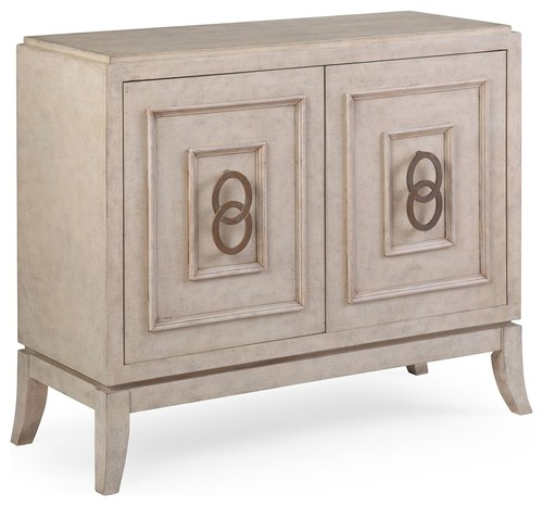Dalia Hall Cabinet, Cream/Beige Finish