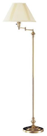 "Cal Lighting Bo-314 150 Watt 59"" Metal Swingarm Floor Lamp With 3-Way Switch."