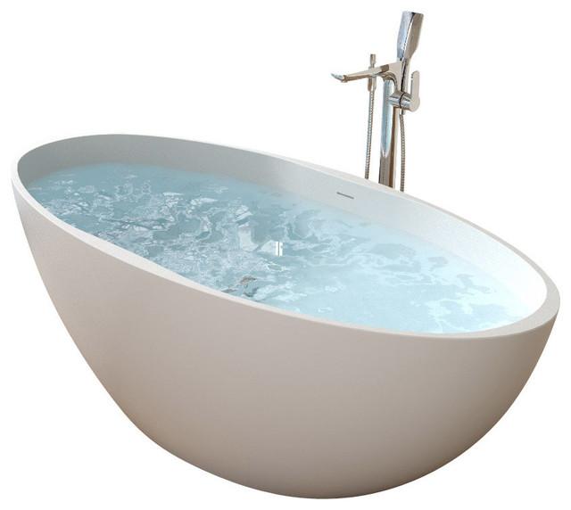 Badeloft upc certified stone resin freestanding bathtub contemporary bathtubs by badeloft for Woodbridge 54 modern bathroom freestanding bathtub