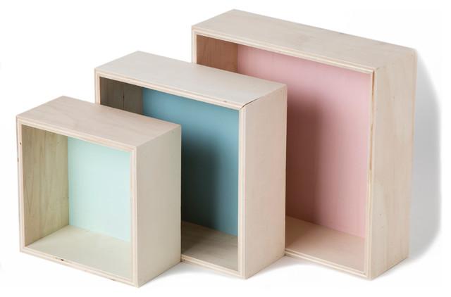 Wondernology Cube Wall Shelves, Set of 3