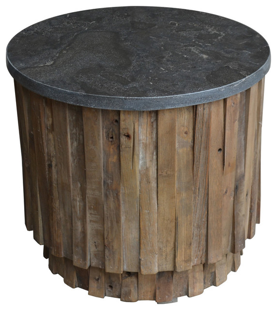 Norwalk Soapstone Top Accent Table Rustic Side Tables And End Tables By Meva