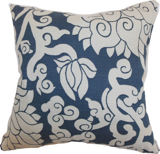 Decorative Down Pillows : Erdenet Floral Down Feather Filler Pillow, Smoke, 20