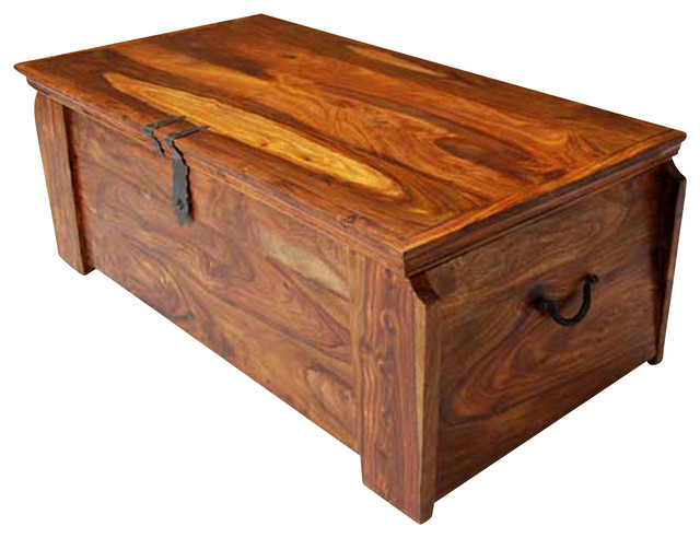 Superbe Solid Wood Storage Trunk Chest Box Coffee Table