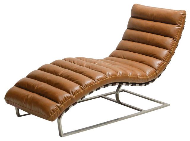 Cavett Chaise Lounge, Distressed Caramel.