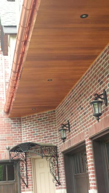 Cedar Soffit Amp Copper Fascia Half Round 6 Quot Eavestrough