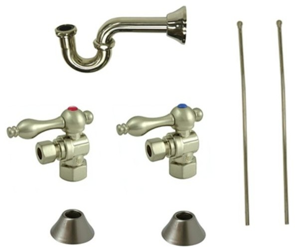 Traditional Plumbing Sink Trim Kit With P Trap For Lavatory And Kitchen Bathroom Faucet Parts By Kolibri Decor