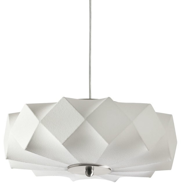 Cocoon 3-Light Geometric Pendant, White contemporary-pendant-lighting