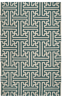 Surya Archive ach-1708 Turquoise, Ivory Area Rug - Contemporary - Area ...