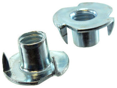 Pack of 12 1//4-20 Zinc Plated Tri-Groove Nuts