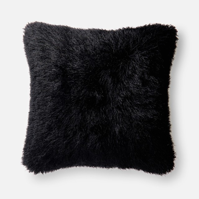 Loloi Contemporary Polyester Accent Pillow Black 22 X22 Decorative Pillows By Gwg Outlet
