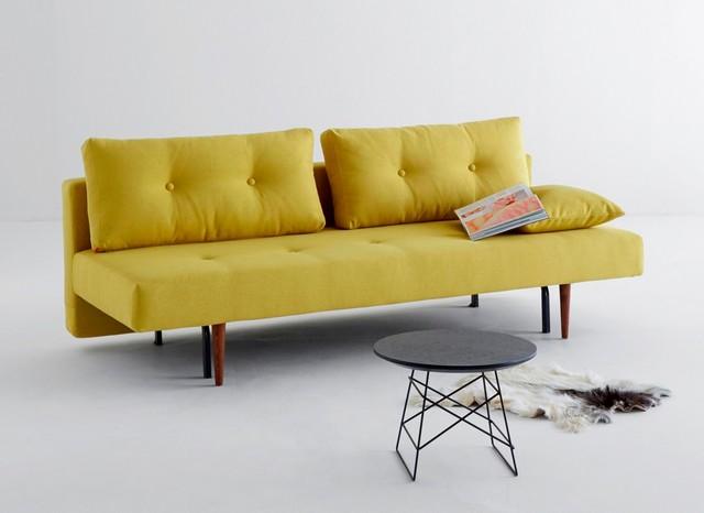 Innovation Recast Sofa Bed | Soft Mustard Flower コンテンポラリー