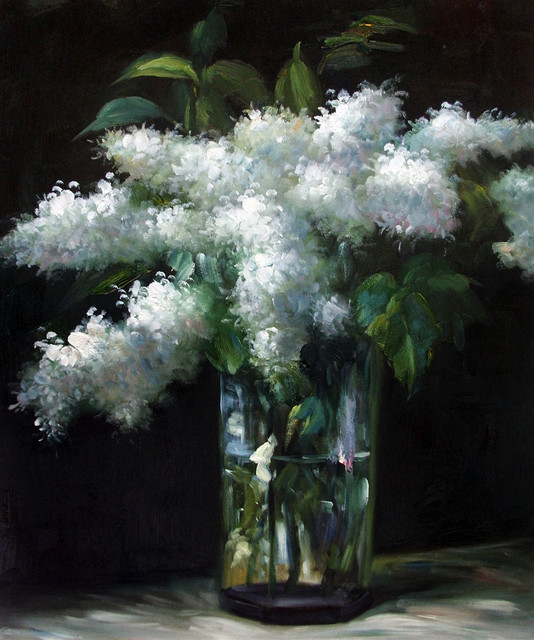 Manet Lilacs In A Vase Traditional Paintings By