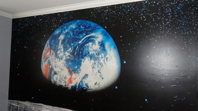 Boy S Room Space Mural Modern Nashville By Debbie Hall