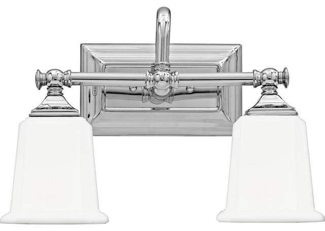 Nicholas 2-Light Bathroom Vanity Lights, Polished Chrome.
