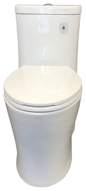 Woodbridge Elongated One Piece Toilet With Soft Closing Seat. -1