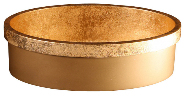 Vetro Vessel Sink, Gold Leaf