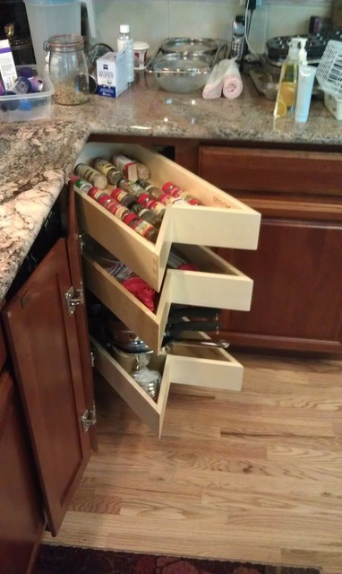 Glide Around Lazy Susan - Shelves and Drawers in your corner space!
