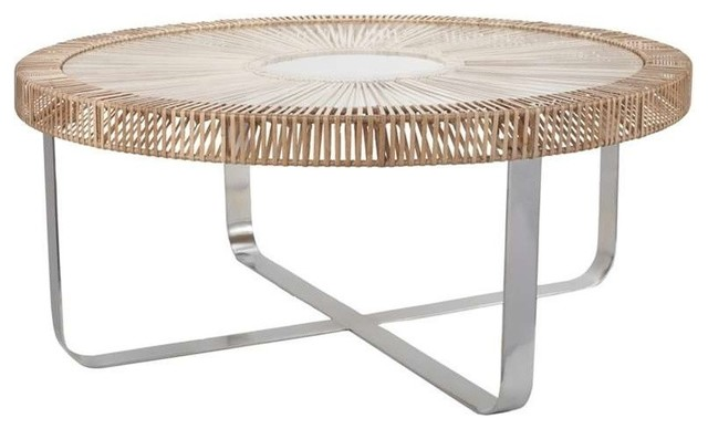 Natural Split Rattan Coffee Table