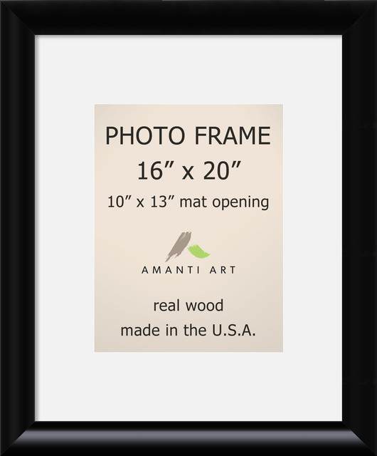 Picturephoto Frame 16x20 Matted To 10x13 Steinway Black Outer