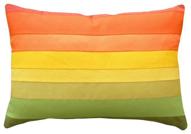 colorful decorative pillows ombre colors