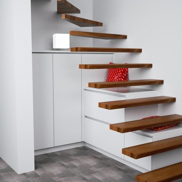 Einbauschrank unter der Treppe - Modern - Dortmund - von deine ...