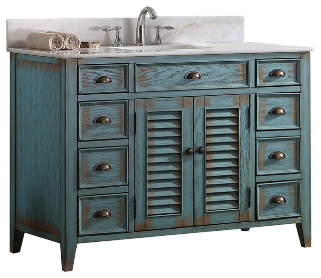 Modetti Palm Beach Cottage Beach Look Single Bathroom Vanity - Bathroom vanities palm beach