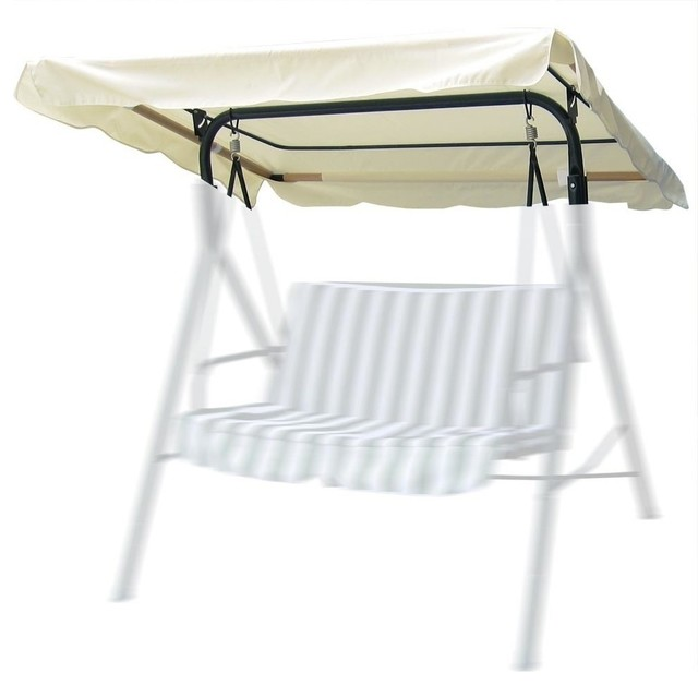 "76""x44"" Outdoor Swing Canopy Top Replacement Uv30+ 180gsm, White."