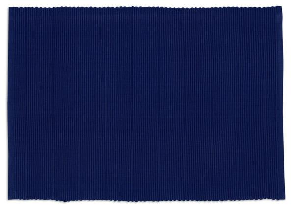 Gentil Ribbed Indigo Blue Placemats, Set Of 4