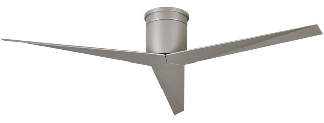 Eliza Hugger Fan, Brushed Nickel With Brushed Nickel Blades.