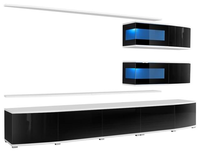 Spokane, Entertainment Center Cabinet/tv Wall Units Black.