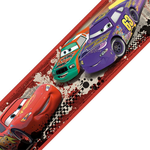 Disney Cars Piston Cup Racing Self Stick Wall Border Roll