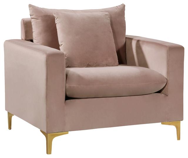 Naomi Chair - Pink Velvet
