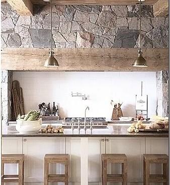Rustic Kitchen Vent Hood