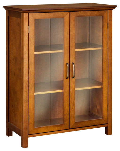 Excellent Elegant Home Fashions Avery 2 Door Floor Cabinet Oil Oak Interior Design Ideas Clesiryabchikinfo