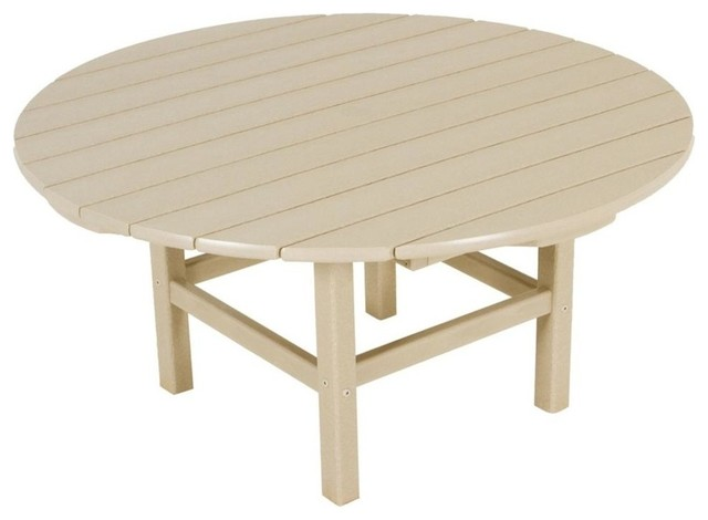 Polywood eco friendly coffee table in sand reviews houzz Eco friendly coffee table