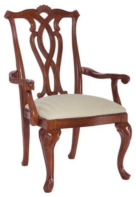 American Drew Cherry Grove Pierced Back Arm Dining Chairs Set Of