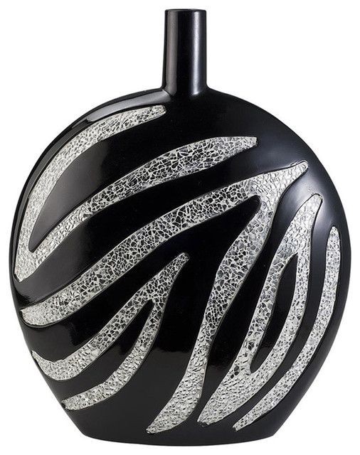 Ore international home decor 18 h zebra decorative vase for International home decor
