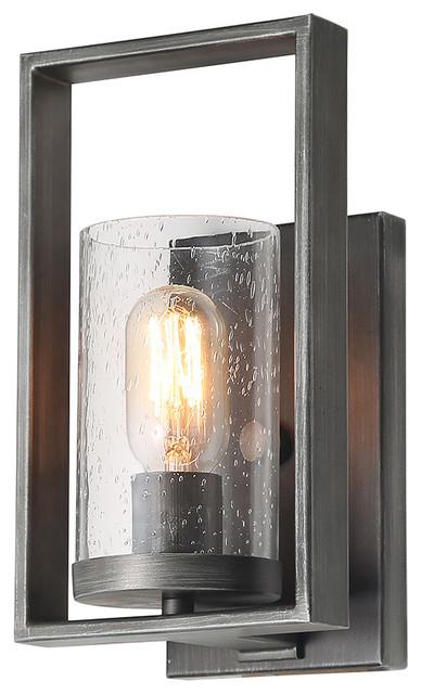 LNC 1-Light Glass Wall Sconces Bathroom Wall lights Rustic Vanity Light