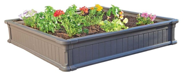 Raised Garden Bed Kit, 4u0027x4u0027, Pack Of 3 Transitional Outdoor