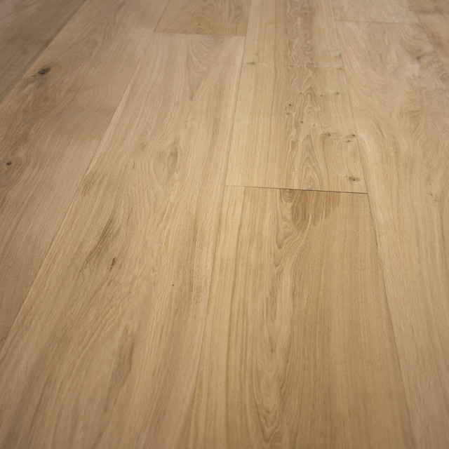 French Oak Unfinished Engineered Wood Floor Wide Plank 10