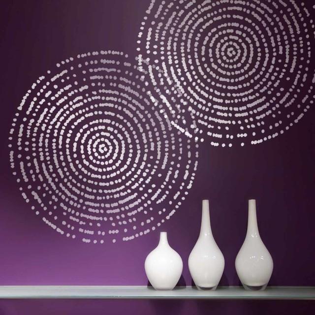 Resonance wall art stencil diy home decor diy wall decor trendy stencils