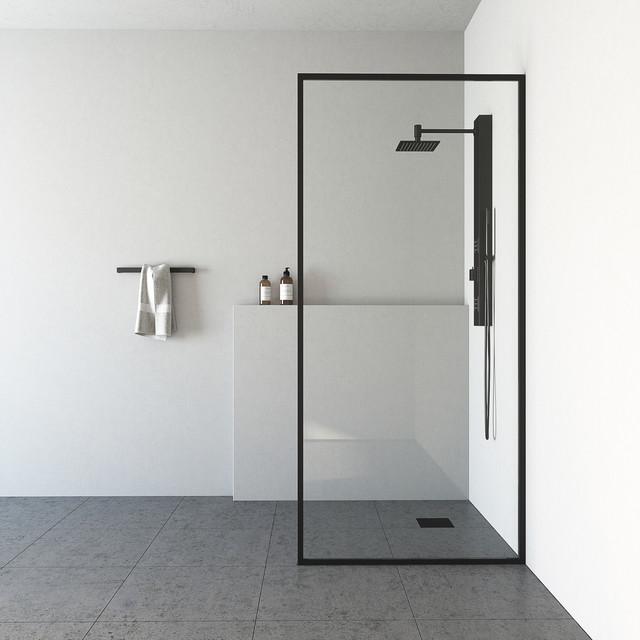 Vigo Meridian 34 X74 Fixed Gl Shower Screen