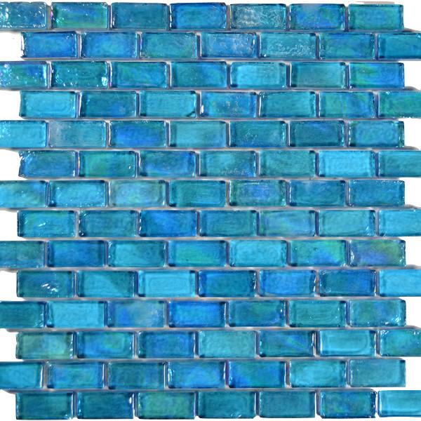 """Falklan Glass Tiles, Turquoise, 12""""x12"""""""