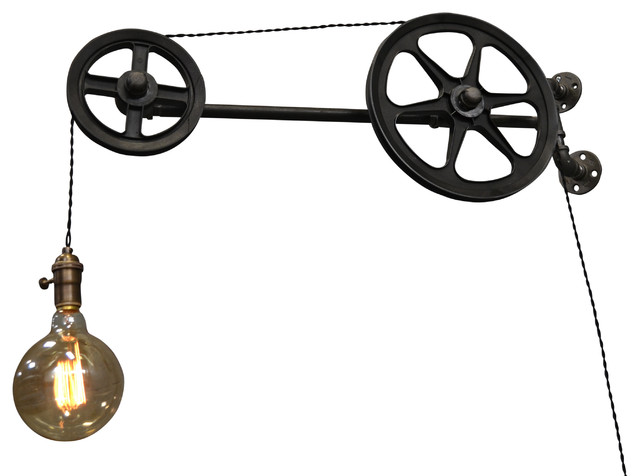 Wall Pulley Light - Industrial - Swing Arm Wall Lamps - by ...